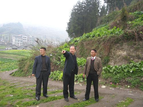 视察基础设施建设 用地及工作环境,对镇雄县的地震仪台址问题提出了